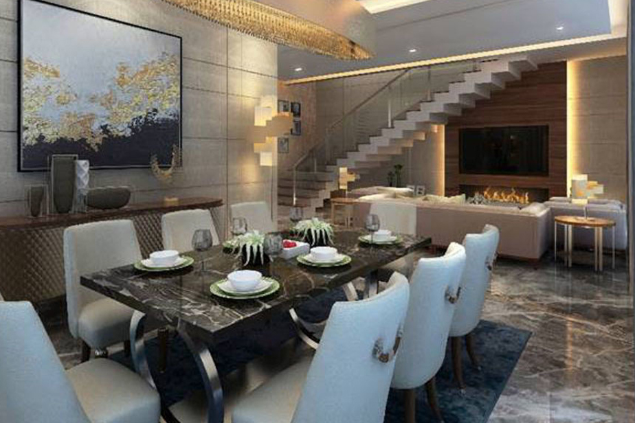 The Lush Villa Dining Room