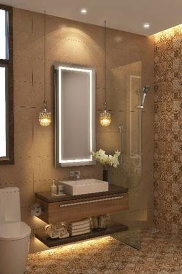 bathroom fitted with spanish tiles kenya